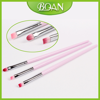 Factory Wholesale 10 sets/ Lot 3pcs Nylon Hair French Nail Art Design Brush Set