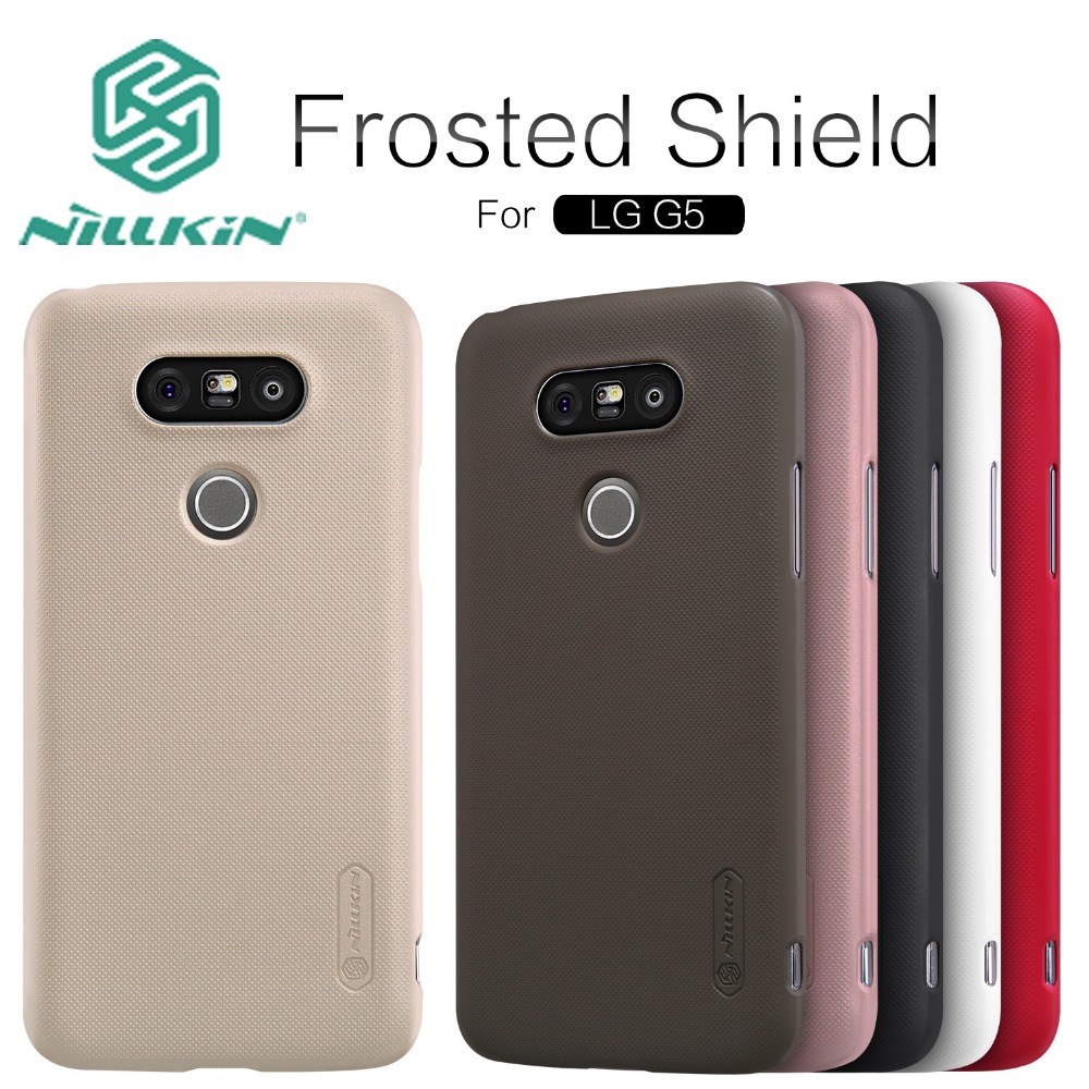 "Original For LG G5 Nillkin Super Frosted Shield Hard Back Cover For LG G5 5.3"" Mobile Phone Case + Retail package"