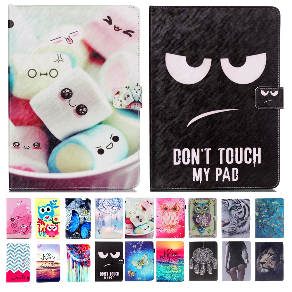 Ipad air 1 case tiger baskı için pu deri flip case standı apple ipad 5 için case ipad air 1st gen için flip case kapak